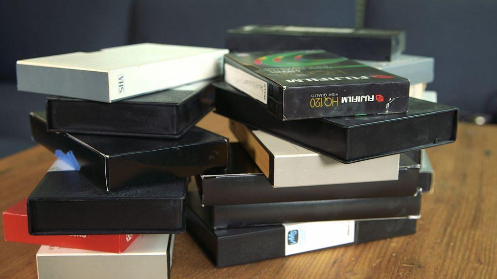 vieilles cassettes vidéo